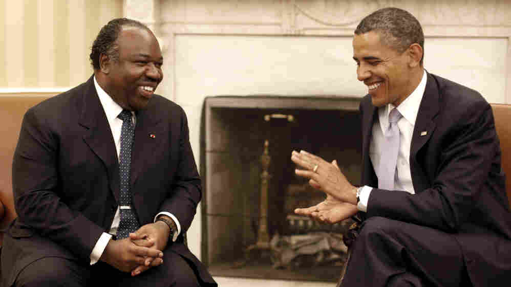 President Barack Obama meets with Gabon's President Ali Bongo Ondimba, June, 9, 2011, in the Oval Office of the White House.