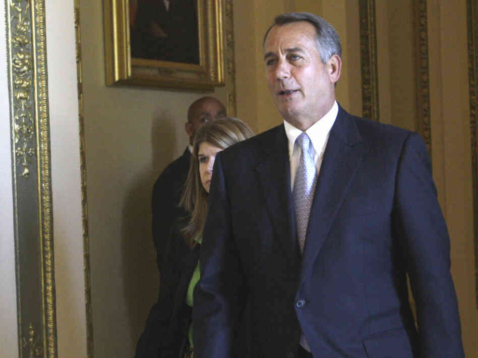 House Speaker John Boehner on June 3, after the House adopted a resolution rebuking President Obama for dispatching U.S. military forces against Libya without congressional approval.