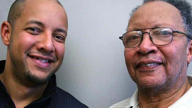 Walter Dean Myers, 73, spoke with his son, Christopher Myers, 36, about his efforts to make an impression on his father. (StoryCorps)