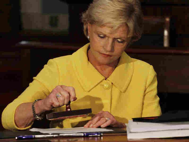 North Carolina Governor Bev Perdue vetoed the GOP-authored $19.7 billion state budget, but Republican legislators overrode her decision.