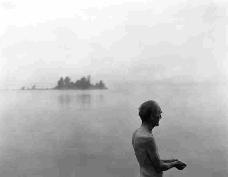 Bob Hardman stands in a lake in the Adirondack Mountains in August 2008.