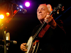 INDIO, CA - MAY 03:  Musician Earl Scruggs performs during day 2 of Stagecoach, California's Country Music Festival held at the Empire Polo Field on May 3, 2008 in Indio, California.  (Photo by Michael Buckner/Getty Images)
