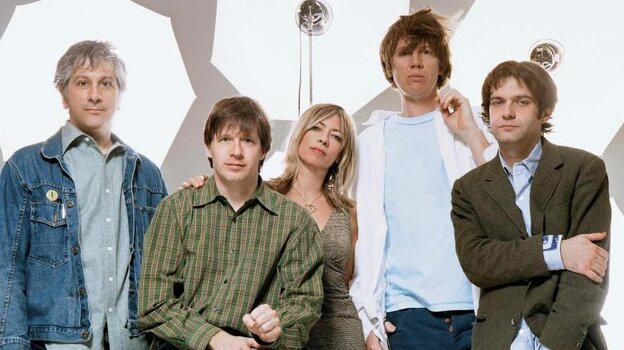 "Had to dig into into the Internet's archive for a photo of Sonic Youth featuring Jim O'Rourke (far right). He plays bass in ""Out and In,"" originally recorded in 2000."