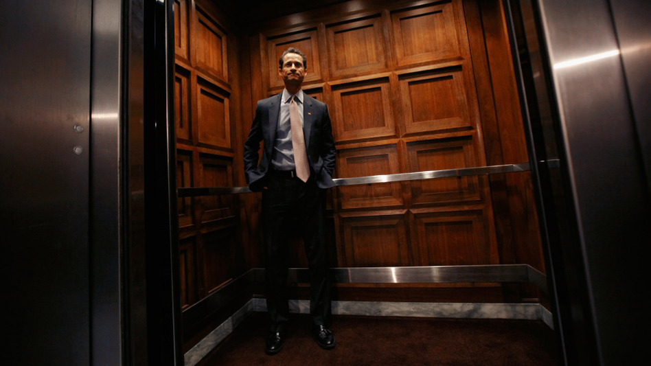 Rep. Anthony Weiner (D-NY) stepped onto an elevator earlier this month after leaving his office in the Rayburn House Office Building in Washington, D.C. (Getty Images)