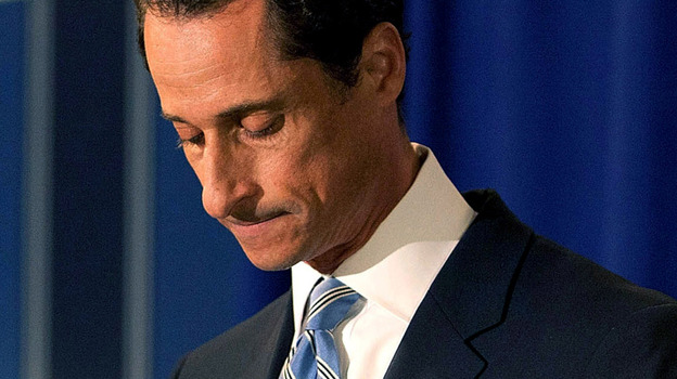Rep. Anthony Weiner (D-NY) during a news conference earlier this month. (Getty Images)