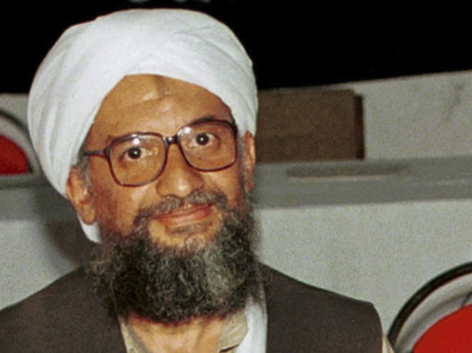 1998 file photo of Ayman al-Zawahri. (AP)