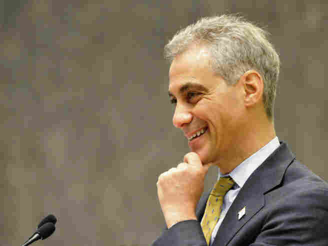 Chicago Mayor Rahm Emanuel presides over his first City Council meeting at City Hall on May 18.