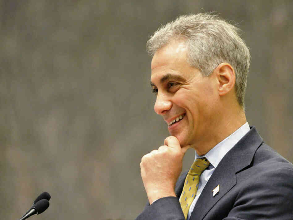 Chicago Mayor Rahm Emanuel presides over his first City Council meeting at City Hall on M