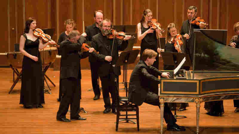 The Boston Early Music Festival Orchestra with harpsichordist Kristian Bezuidenhout.
