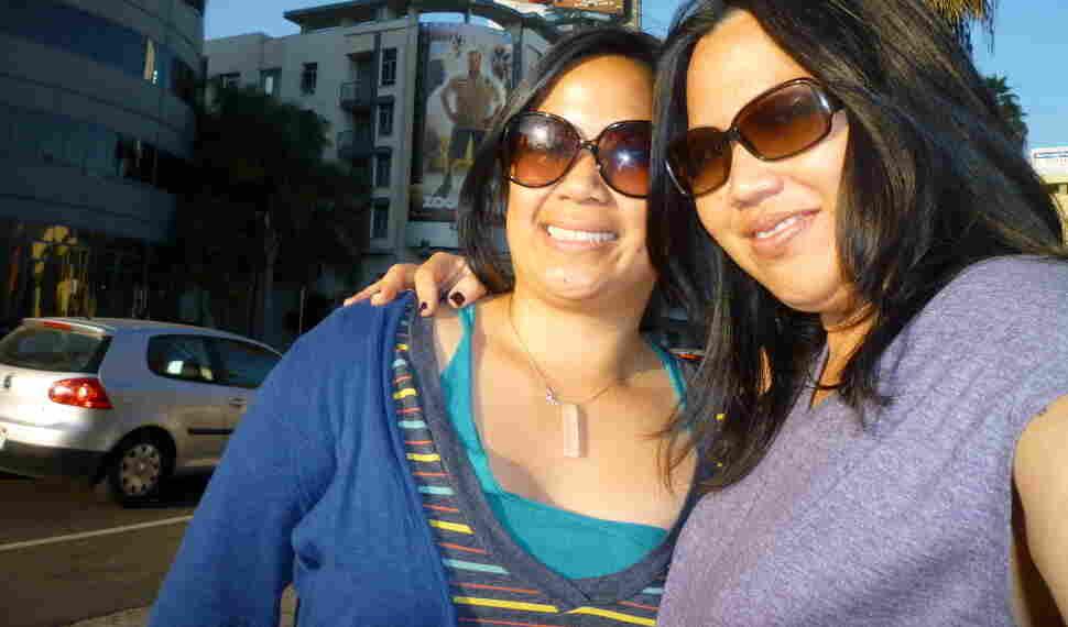 Jolivette (right) with her partner, Charlyne