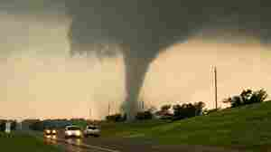 This tornado touched down near Chickasha, Okla., on May 24. In addition to being tracked by the existing NEXRAD radar system, this storm was also being monitored by an experimental radar system that provided more precise information about the tornado's behavior and path.