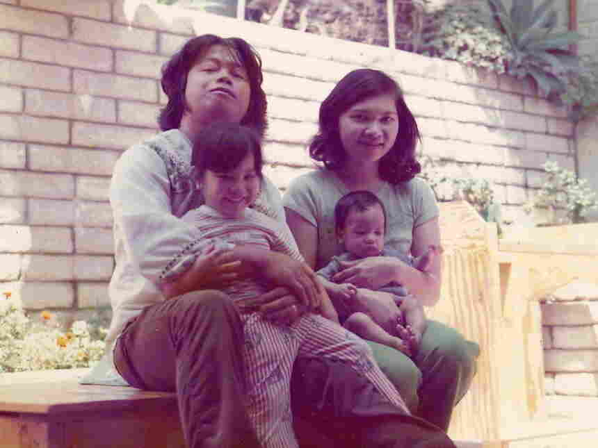 Jolivette with her family in 1976
