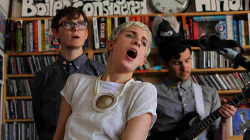 YACHT performs a Tiny Desk Concert at the NPR Music offices.