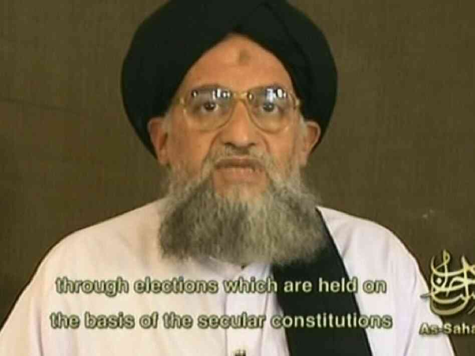 An image grab taken from a video broadcast on Al-Jazeera television in 2006 shows then-al-Qaida number two, Ayman al-Zawahiri. Zawahiri has reportedly assumed the top post at al-Qaida after the death of Osama bin Laden.