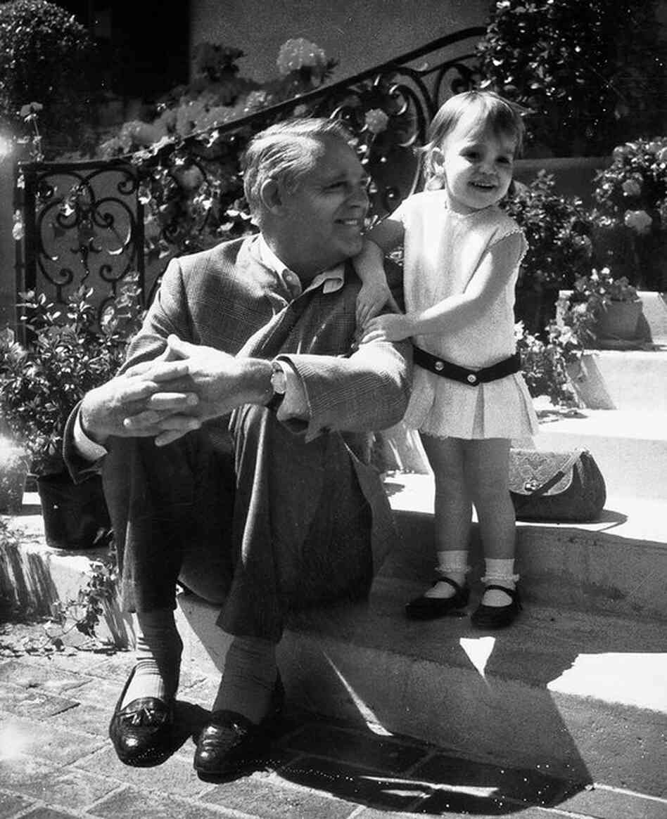 Cary Grant retired from acting when his daughter was born in 1966. This photo of father and daughter was taken around 1969.