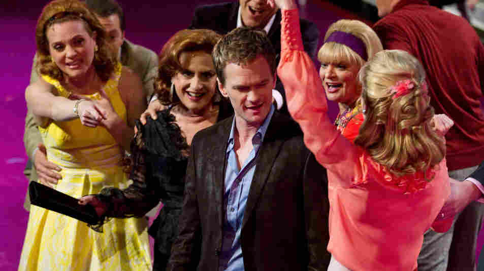 Neil Patrick Harris stands among the cast of Company, which played in select movie theaters this weekend.