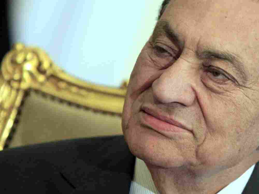Egyptian President Hosni Mubarak at the presidential palace in Cairo on Feb. 8.
