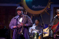 Antoine Batiste (Wendell Pierce) has a moment during his band's set at the Blue Nile in Treme.