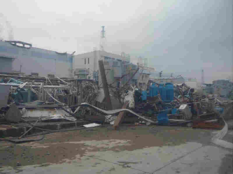 After the tsunami water receded, workers were left with a facility completely destroyed. This photo, taken a month after the disaster, on April 11, shows the extent of the damage.