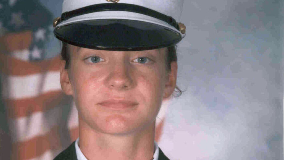 Jess Goodell spent eight months in the the Marine Corps' Mortuary Affairs unit, cataloging the  bodies and personal effects of fallen troops in Iraq. She now lives in Buffalo, N.Y., and plans to attend graduate school in the fall. (Courtesy of Jess Goodell)