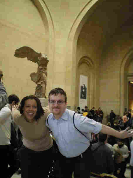 Lateefah and Frank visit the Louvre in Paris.