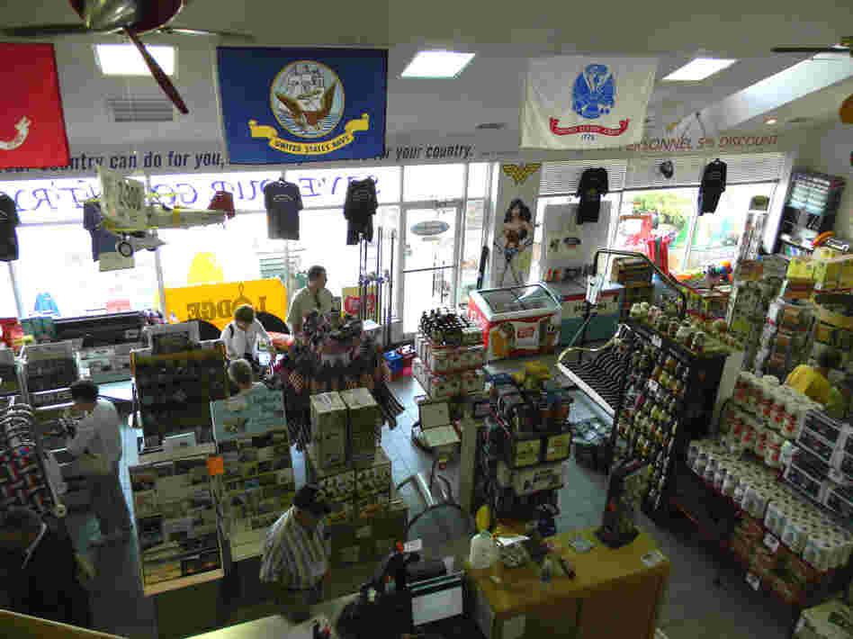 Customers are eager to shop the store's 3,000 American-made products.