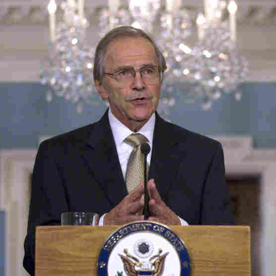 Ambassador Princeton Lyman at the announcement of his appointment as the new U.S. Special Envoy for Sudan, March 31, 2011, at the State Department in Washington.
