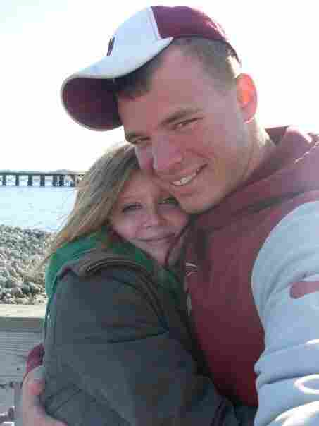 Ashley with her husband Jesse in the winter of 2008 when they got engaged.
