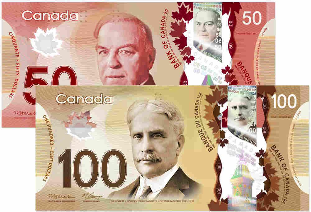 New polymer $50 and $100 bills.