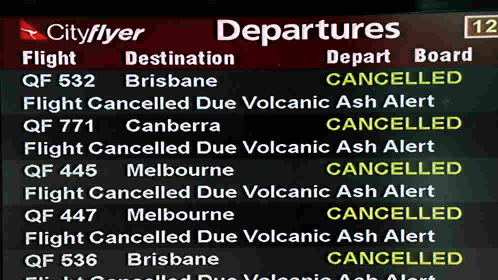 Tuesday (June 21, 2011): The cancellations board at the Quantas domestic terminal in Sydney.