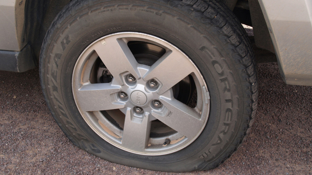 Flat Tire Rental Car Budget, Got A Flat Tire Tough Luck, Flat Tire Rental Car Budget