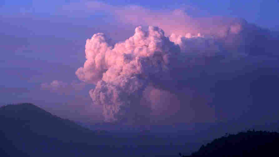 Monday (June 20, 2011): A cloud of ash billows from the Puyehue volcano in Chile.