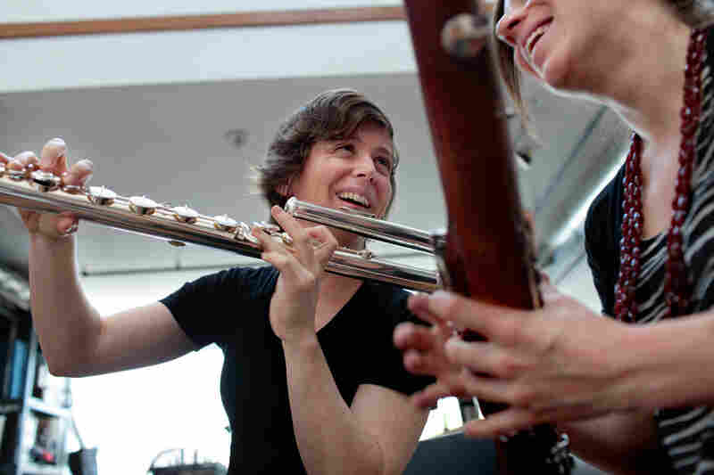 Flutist Claire Chase is the executive director of the International Contemporary Ensemble, known as ICE. For a week in May, reporter Lara Pellegrinelli followed her around New York. These images, taken by photographer Melanie Burford, document Chase's day on Wednesday, May 25.