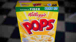 The small print in the bar at the top of the Corn Pops box is an example of industry's voluntary approach to enhanced nutrition information.