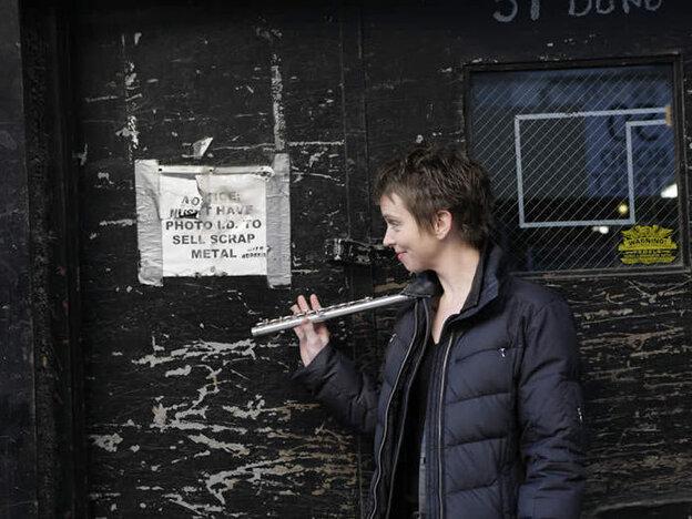 Flutist Claire Chase.