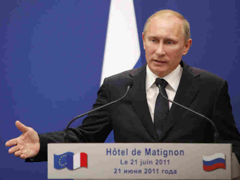 Russian Prime Minister Vladimir Putin called Tuesday for international pressure on Syria's leadership over its crackdown on anti-government protests.