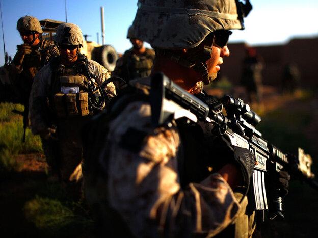 U.S. Marines on patrol earlier this month in Afghanistan's Helmand Province.