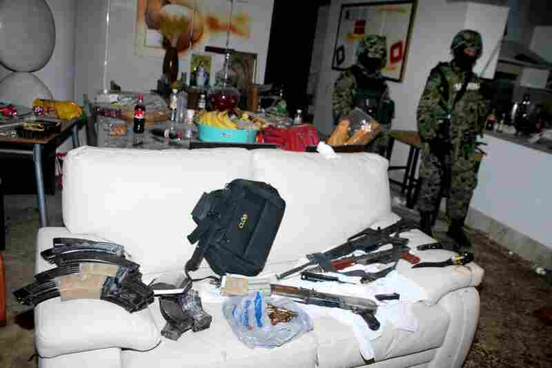 Killed Dec. 16, 2009: Arturo Beltran Leyva, then-leader of the Beltran Leyva gang, is killed in a shootout with some 200 Mexican marines in the city of Cuernavaca. Mexican troops stand guard the following day inside the apartment where Beltran Leyva and three members of his cartel were slain.