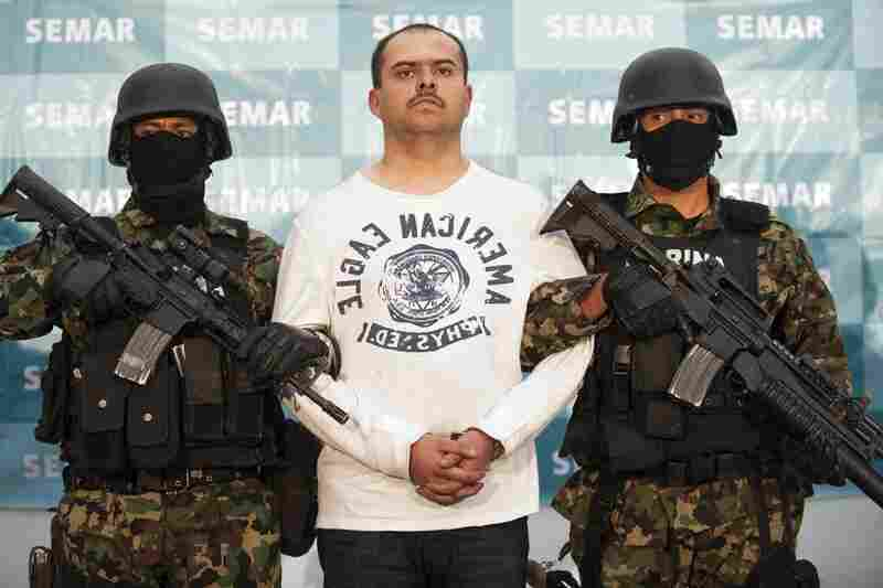 Captured Feb. 27, 2011:  Sergio Antonio Mora Cortes, aka El Toto, a suspected senior operator in the Los Zetas gang, is captured by Mexican marines in Saltillo, Coahuila. Cortes, pictured Feb. 28 at the Mexican navy headquarters in Mexico City, was wanted for the murder of a U.S. Immigration and Customs Enforcement agent and a Nuevo Laredo police chief.