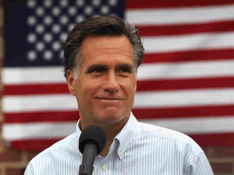 Former Massachusetts Governor Mitt Romney in Aurora, Colorado on June 20. Romney is one of two presidential hopefuls who has not signed a hard-line anti-abortion pledge.