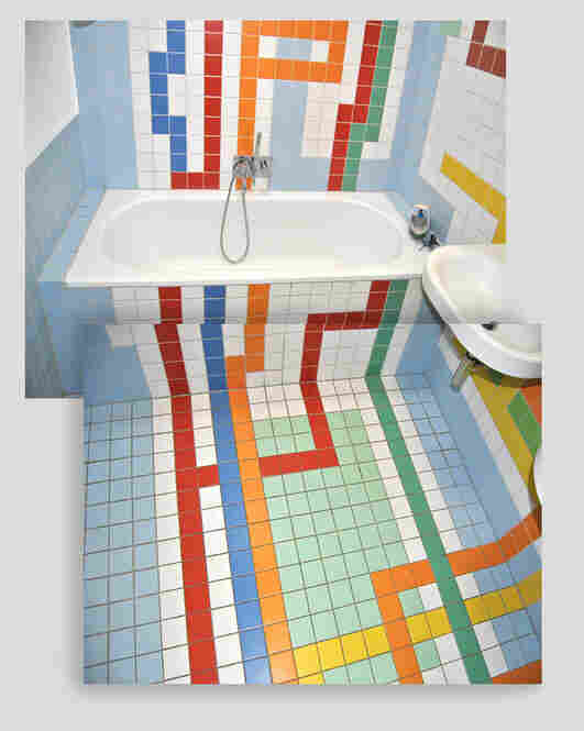 And here is the finished product. His kids can take the A train all the way to the bathtub.