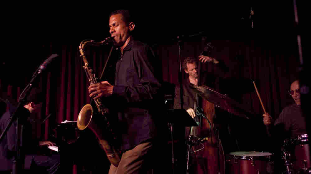 The Mark Turner quartet at the Village Vanguard. L-R: David Virelles, Turner, Ben Street, Paul Motian.