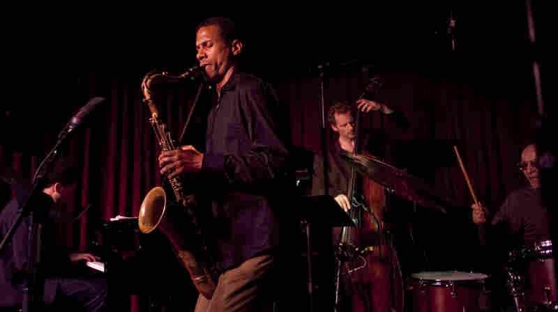 The Mark Turner quartet at the Village Vanguard. L-R: David Virelles, Turner, Ben Street, Paul Motian.