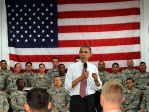 President Obama explains his rationale for a troop drawdown from Afghanistan to the U.S. Army 10th Mountain Division at Fort Drum, N.Y., on Thursday.