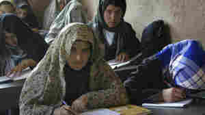 June 4, 2011: women and girls at a literacy class in Anjil, Afghanistan.