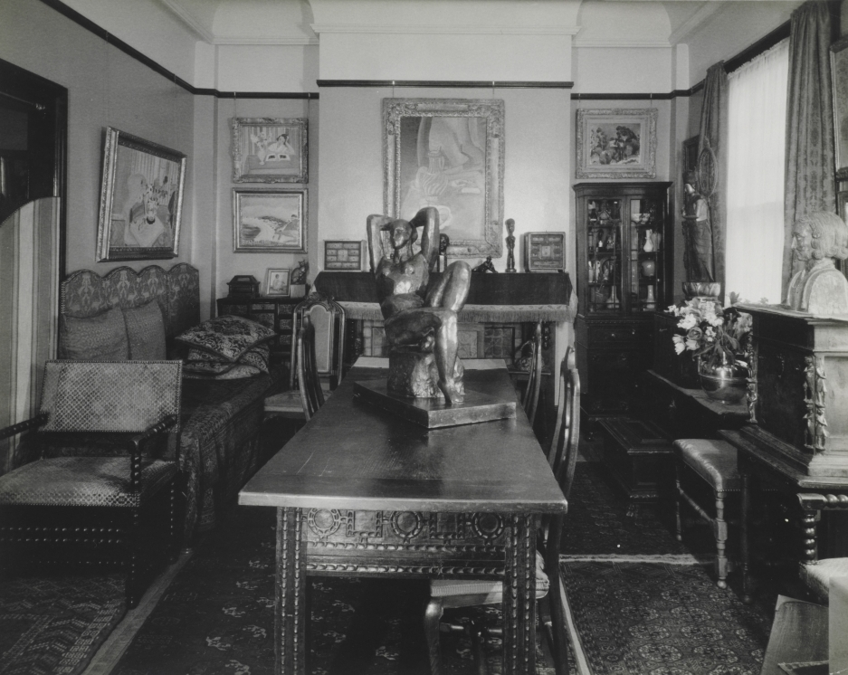 "The sisters' apartments were filled with art. The collection grew so large that Claribel rented a second apartment and devoted her first (above) solely to what she called ""her museum."""