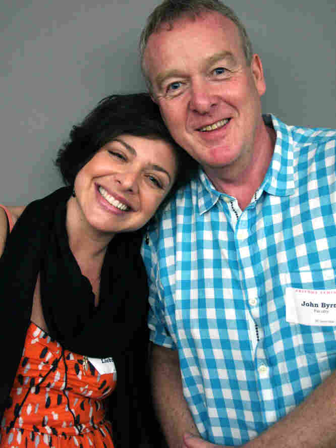 Teacher John Byrne talked about coming out to his 10th-grade English class with a former student, Samantha Liebman, in New York City.