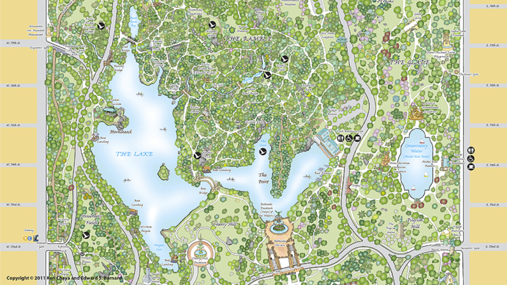 on central park map new york