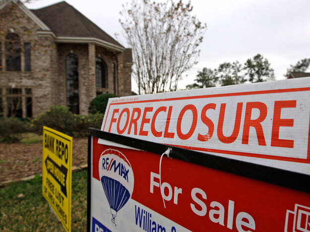 This foreclosure property in Houston was for sale in 2009. But many houses are still in the foreclosure pipeline and haven't even come on the market.