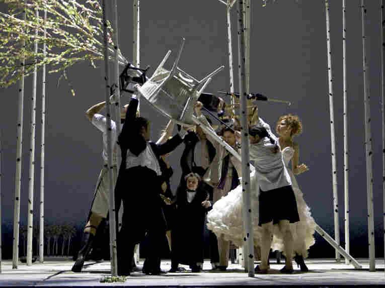 A scene from 'La Finta Giardiniera' at La Monaie, March 13 2011.